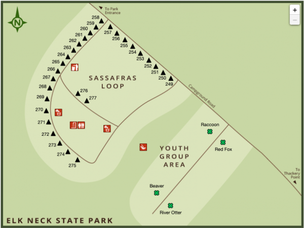 Youth Group Area Map